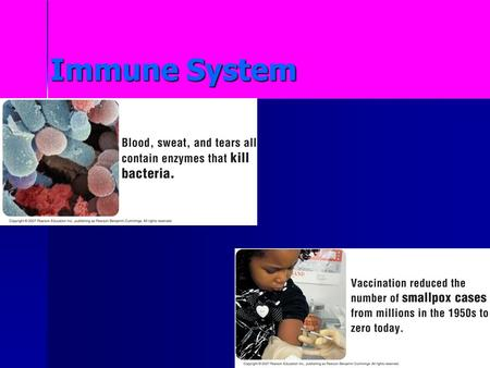 Immune System. Disease A disease is any change other than injury, that disrupts the normal functions of the body. Some diseases are inherited, others.