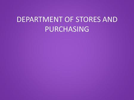 DEPARTMENT OF STORES AND PURCHASING. QUICK REFERENCE SHEET Clerks and Secretaries will each receive the following card in the district mail tomorrow.