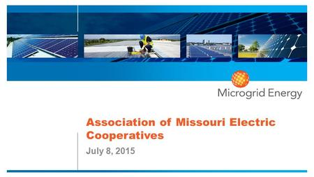 Association of Missouri Electric Cooperatives July 8, 2015.