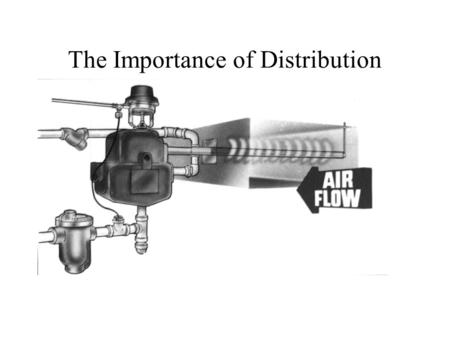 The Importance of Distribution. Manifold Position And Vapor Trail.