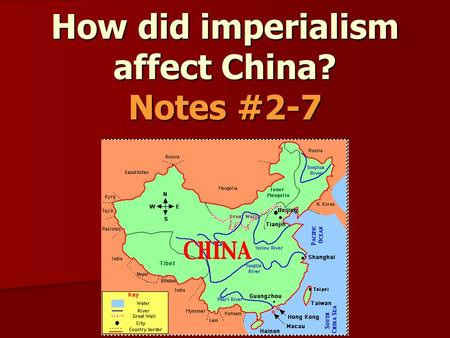 how western imperialism affects china and Westward imperialism impacted japan the japanese had been closed to world trade until the 1850s the united states, under the command of commodore matthew perry, helped to open japan to world trade.