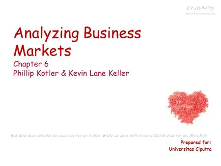 Analyzing Business Markets Chapter 6 Phillip Kotler & Kevin Lane Keller Prepared for: Universitas Ciputra.