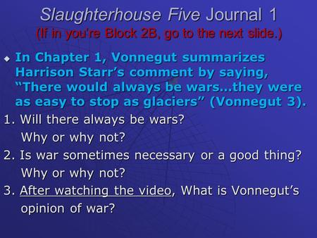 slaughterhouse five critical analysis Kurt vonnegut's slaughterhouse-five (bloom's modern critical interpretations   slaughterhouse five is a powerful novel incorporating a number of genres   books  teen & young adult  literature & fiction  literary criticism &  collections.