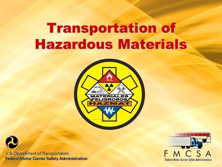 Transportation of Hazardous Materials. Applicability Each officer or employee of the motor carrier who performs duties related to the transportation of.