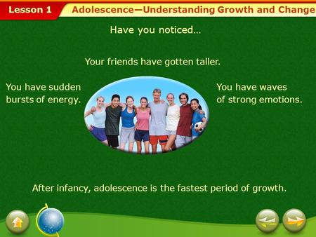 Adolescence—Understanding Growth and Change