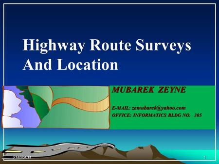 Highway Route Surveys And Location