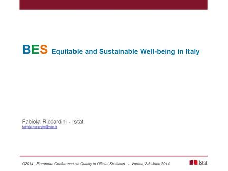 BES Equitable and Sustainable Well-being in Italy