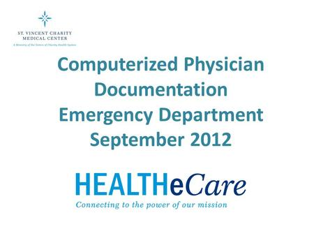 Computerized Physician Documentation Emergency Department September 2012.