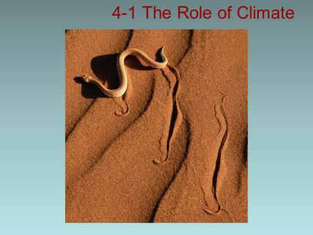 Copyright Pearson Prentice Hall 4-1 The Role of Climate.