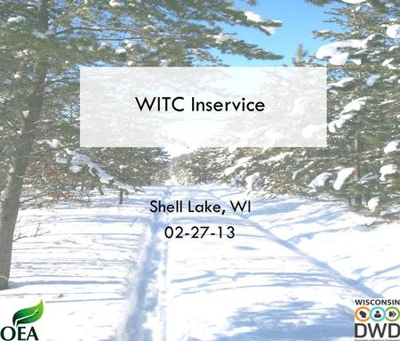 WITC Inservice Shell Lake, WI 02-27-13. Gross Domestic Product Source: Actual--Bureau of Economic Analysis.Shaded area indicates period of recession Actual.