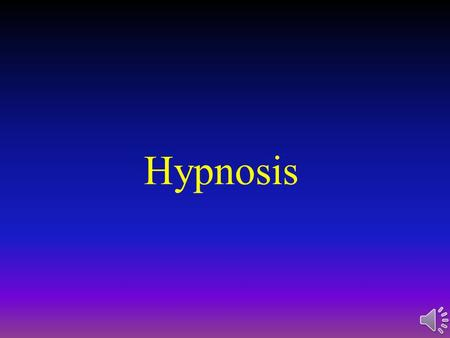 acting if you hypnotized Hock learn with flashcards, games, and more — for free.