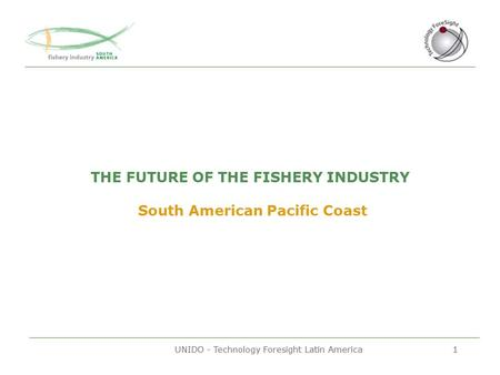 UNIDO - Technology Foresight Latin America1 THE FUTURE OF THE FISHERY INDUSTRY South American Pacific Coast.