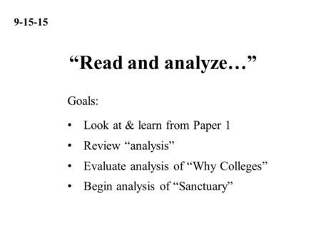 review summary amp analysis understand comparison through