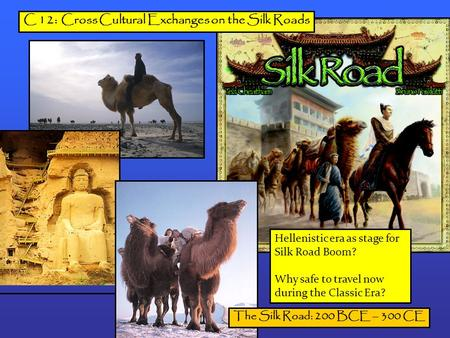 C 12: Cross Cultural Exchanges on the Silk Roads