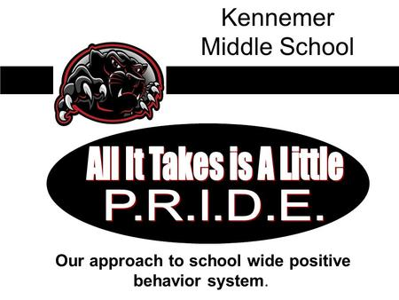 Our approach to school wide positive behavior system. Kennemer Middle School.
