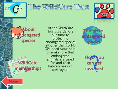 The WildCare Trust About endangered species