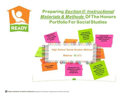 Preparing Section II: Instructional Materials & Methods Of The Honors Portfolio For Social Studies.