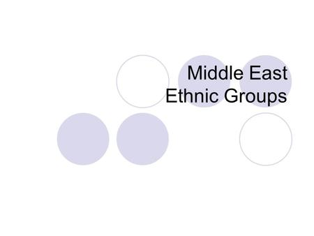 Middle East Ethnic Groups. Write in the Top Margin of Page 11 SS7G8a.b.d.  A. Explain the differences between an ethnic group and a religious group 