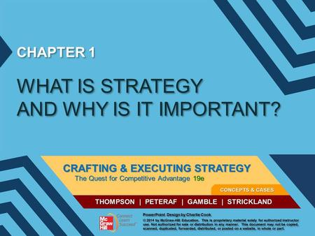 CHAPTER 1 WHAT IS STRATEGY AND WHY IS IT IMPORTANT?