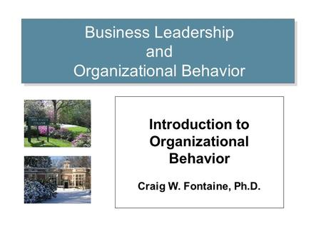 Section 1: Various Views & Perspectives of Organizations