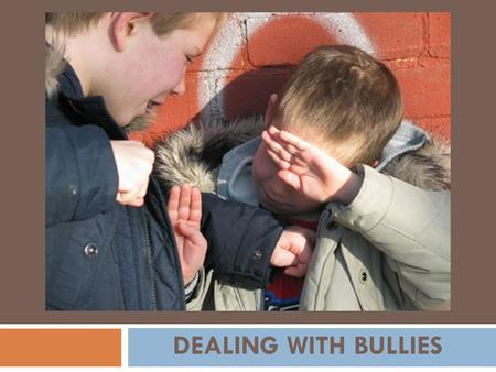 DEALING WITH BULLIES.