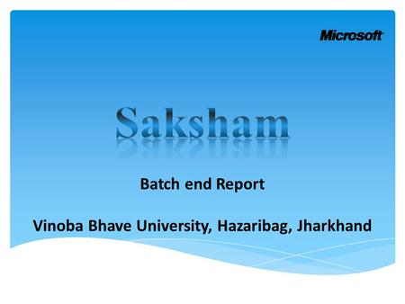 Batch end Report Vinoba Bhave University, Hazaribag, Jharkhand.