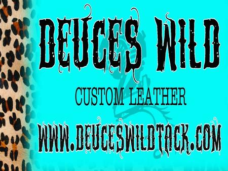 About Products Custom Deuces Wild Tack LLC is a family run business that designs custom tack for horses. The founders, Angela Marshall and Emily Marshall.