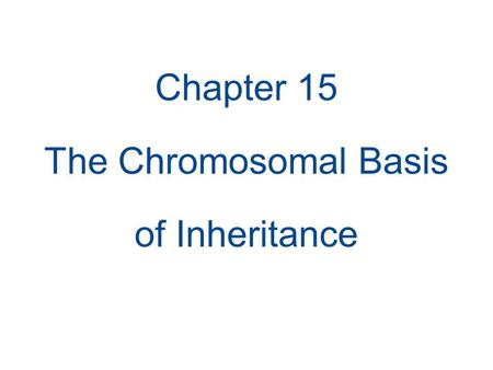 Chapter 15 The Chromosomal Basis of Inheritance. Concept 15.2: Sex-linked genes exhibit unique patterns of inheritance In humans and some other animals,