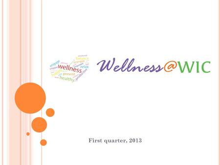 "First quarter, 2013. NWI S IX D IMENSIONAL M ODEL OF W ELLNESS ""Wellness is a lifelong journey, an active process of making daily choices and commitments."