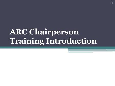ARC Chairperson Training Introduction 1. The Language of Special Education Acronyms 2.