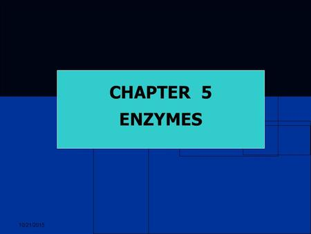 10/21/2015 CHAPTER 5 ENZYMES. 10/21/2015 ENZYMES All organisms require energy to perform life functions. All organisms require energy to perform life.