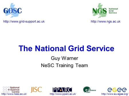 The National Grid Service Guy Warner.