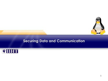 1 Securing Data and Communication. 2 Module - Securing Data and Communication ♦ Overview Data and communication over public networks like Internet can.