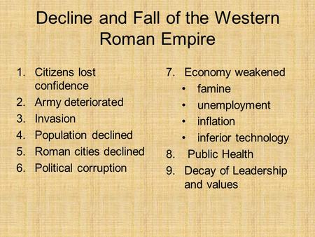 Essay on fall of roman empire