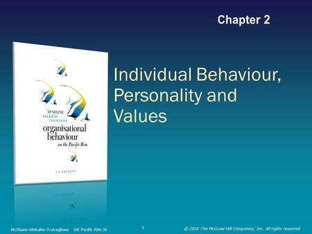 Individual Behaviour, Personality and Values