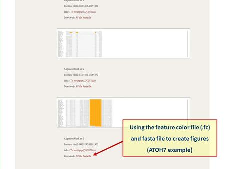 Using the feature color file (.fc) and fasta file to create figures (ATOH7 example) Using the feature color file (.fc) and fasta file to create figures.