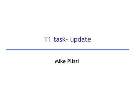 T1 task- update Mike Plissi. 2 Motivation  Thermo-elastic noise is higher than the 'intrinsic' noise in crystalline materials  There are several sources.