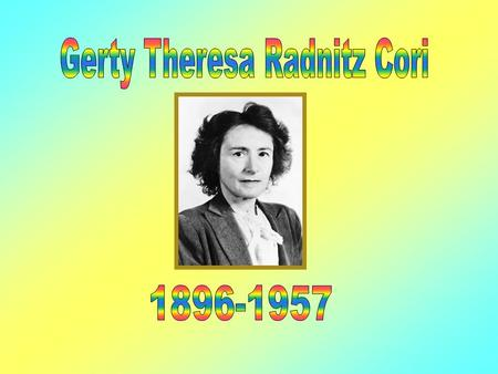 Contents Her family and childhood Education Time spent at Roswell Nobel Prize The Cori Ester Awards 1 Awards 2 Death General Conclusion.