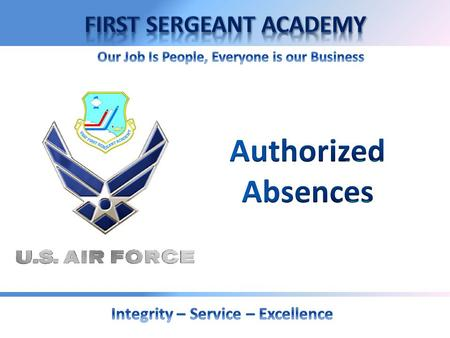 Authorized Absences.