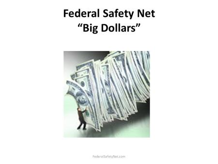"Federal Safety Net ""Big Dollars"" FederalSafetyNet.com."