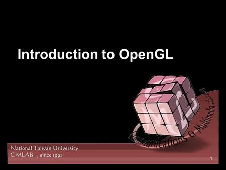Introduction to OpenGL 1. 2 OpenGL A Graphics rendering API introduced in 1992 by Silicon Graphics Inc Provide the low-level functions to access graphics.