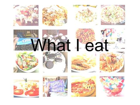 What I eat. MONDAY Breakfast : eggs, bread, beef,pancakes and hot chocolate = 600 calories Lunch : Rice and fish 318 calories Dinner : Tomato w/ cheese,