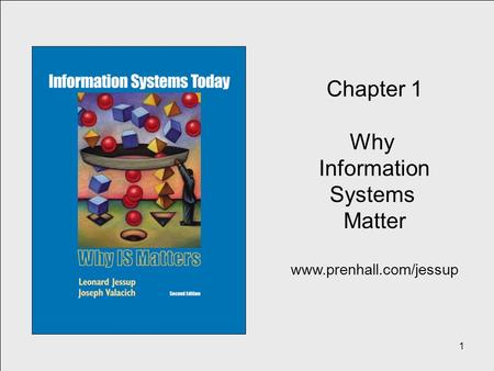 1 Chapter 1 Why Information Systems Matter www.prenhall.com/jessup.