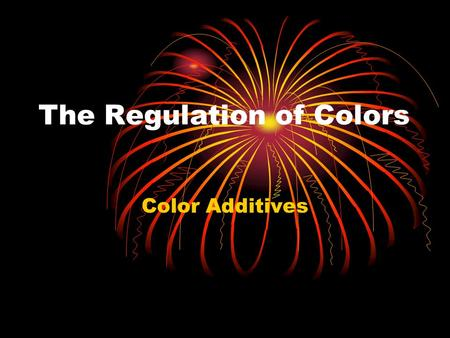 The Regulation of Colors
