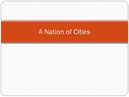 A Nation of Cities. Evolution of the US Economy Transition.