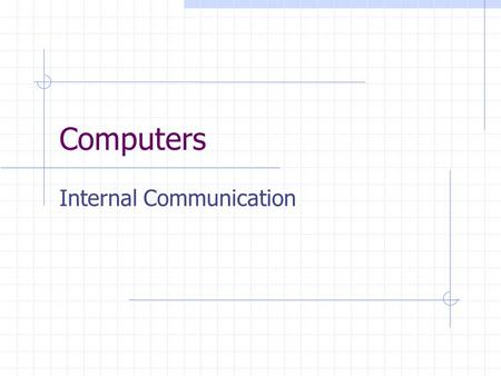 Computers Internal Communication. Basic Computer System MAIN MEMORY ALUCNTL..... BUS CONTROLLER Processor I/O moduleInterconnections BUS Memory.