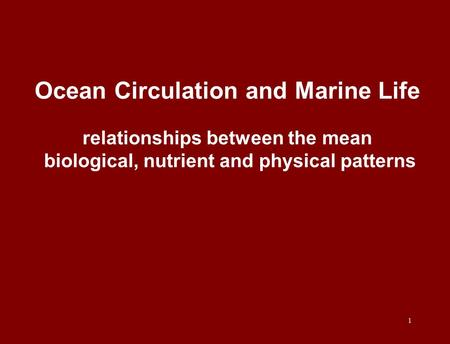 ocean circulation patterns and atmospheric relationship