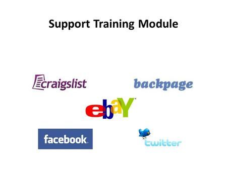 "Support Training Module. Support Manual 1.""On The Lot"" – How it all works… 2.Craigslist Settings 3.Post to Craigslist 4.Backpage Settings 5.Post to Backpage."