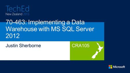CRA105. + Administering Microsoft SQL Server 2012 Databases Implementing a Data Warehouse with Microsoft SQL Server 2012 + = Querying Microsoft.
