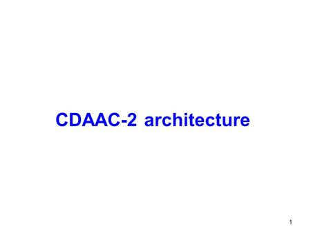 CDAAC-2 architecture 1. COSMIC-2 subsystems 2 1.Clock subsystem Ground GNSS data Navigation bits Weather models IGS products Clock products, Orbits, Zenith.